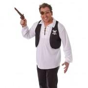 Geen Zwart met wit piraten vestje