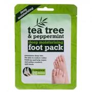Xpel Tea Tree Tea Tree & Peppermint Deep Moisturising Foot Pack cura idratante per i piedi 1 pz