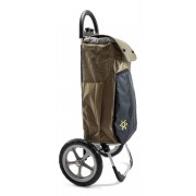 Shoppingvagn med stora hjul och termopåse