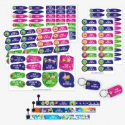 Stikets SpongeBob SquarePants Labels plus Bracelets Pack