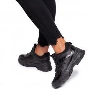 Pantofi sport dama Soona, Negru 39