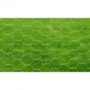 vidaXL Zeshoekig verzinkt gaas 75 cm x 25 m / maaswijdte: 13 mm