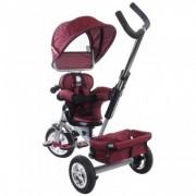 Tricicleta copii 12 luni - 36 luni Confort Plus Sun Baby Melange Rosu