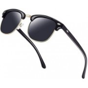 0303 FASHION HUB Retro Square Sunglasses(Black)