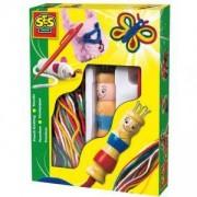 Детски комплект за плетене с конци, SES, 080068
