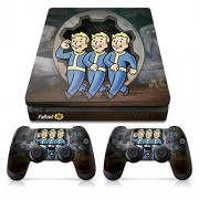 Controller Gear Officially Licensed Console Skin Bundle for PS4 Slim Fallout Vault Boys