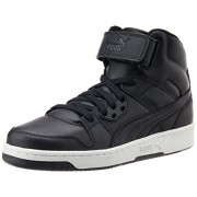 Puma Unisex Puma Rebound Street L Black and Black Sneakers - 6 UK