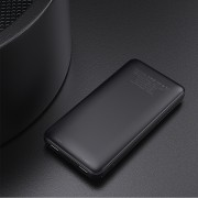 ESSAGER 10000mAh Dual USB Power Bank Battery Charger for iPhone Samsung LG Huawei - Black