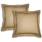 Lushomes Cotton Half Panama Sand Cushion Covers (Pack of 2)