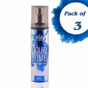 Liquid Bomb Perfumed Body Spray - Intense (Set of 3)