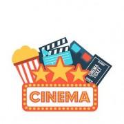 Placa Decorativa em MDF Formato Cinema