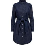 Jacqueline de Yong JDYESRA LIFE SHIRT DRESS DNM NOOS Rochie pentru femei Denim Blue Dark 40