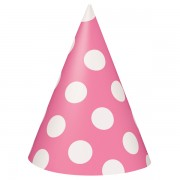 8 coifuri roz cu buline albe