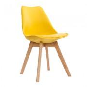 KH Krzesło NORDIC żółte z poduszką