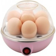 ShoppersWorld Smart Quick Sales Electric Boiler Steamer Poacher 1234 Egg Cooker(Pink, White, 7 Eggs)