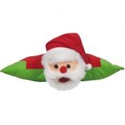Ultra Folding Pillow Santa Cusion 16x12 Inches-Multi- Colour