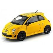 Fiat Abarth 695 Tributo Ferrari, Yellow - Bburago 21070 - 1/24 scale Diecast Model Toy Car