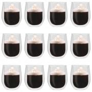 vidaXL Double Wall Tea Glasses 12 pcs 320 ml