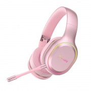 PICUN P80S Over-ear Bluetooth 4.1 Version Stereo Music Luminous Wireless Hifi Headphone - Pink