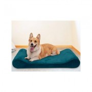 FurHaven Minky Plush Luxe Lounger Memory Foam Dog Bed w/Removable Cover, Spruce Blue, Large
