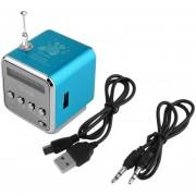 ER 4 Radio FM Micro USB Portátil Mini Estéreo Bajo Estupendo Del Altavoz De La Música MP3 Azul.