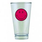 Pahar pentru party Smiley Tumbler Visiniu/Transparent, 330 ml