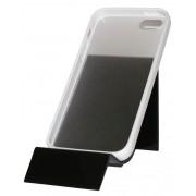 Прозрачен калъф с бяла лайсна за Apple iPhone 5