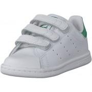 adidas Originals Stan Smith Cf I Ftwr White/Ftwr White/Green, Skor, Sneakers och Träningsskor, Sneakers, Vit, Barn, 26