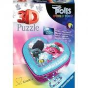 3D Пъзел Ravensburger 54 части - Тролчетата 2: Турнето - Кутия за бижута сърце, 7011232