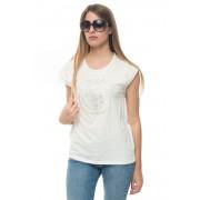 US Polo Assn T-shirt girocollo Bianco Cotone Donna