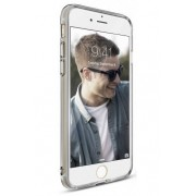 Husa Protectie Spate Ringke Air Smoke Black pentru Apple iPhone 7 si folie protectie display