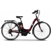 Bicicleta electrica 250W Li-Ion 36V 10.4Ah cadru si jante aluminiu Kuba MB6 rosu