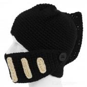 Deportes al aire libre creativo barba lana mascara romana caballero sombrero - negro