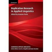 Replication Research in Applied Linguistics par Ed graeme Porte