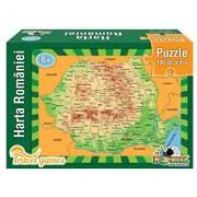 Puzzle educativ - Harta Romaniei, 100 piese