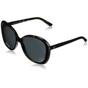 Ralph Lauren Sunglasses Women's Plastic Woman Sunglass Oval, Dark Havana, 57 mm