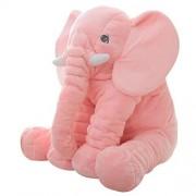 Elephant Stuffed Plush Toy Cute Animals Cushion 40cm37cm25cm(Small, Pink) by Rainbow Fox