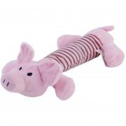 ER Mascotas Cachorro Chew Squeaker Squeaky Felpa Sonido Cerdo Elefante Pato Para Juguetes Para Perros Cerdo Rosado A Rayas
