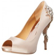 Badgley Mischka Women's Royal Dress Pump, Nude, 5 M US
