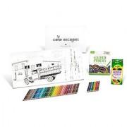 Crayola Color Escapes Coloring Pages & Pencil Kit Americana Edition 12 Premium Pages 12 Watercolor Pencils 50 Colored Pencils Adult Coloring Art Activity Set