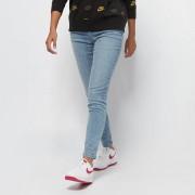 Urban Classics Ladies High Waist Slim Jeans - Blauw - Size: 30/32; female