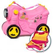 Molto - Valiza Ride-on Masinuta Deluxe 3 in 1, roz