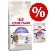 Royal Canin 8 / 10 kg pienso + 12 x 85 g comida húmeda ¡a precio especial! - Hair & Skin Care (10 kg) + sobres Intense Beauty en salsa