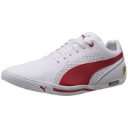 Puma Men's Selezione SF White-Rosso Corsa Leather Running Shoes - 6 UK/India (39 EU)