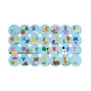 JANOD Puzzle Uczę się alfabetu wersja angielska - drewniane literki do dopasowywania 54 el.,