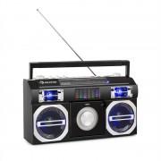 Auna Oldschool, retró lejátszó 80. évekből, CD, BT, USB, MP3, teleszkóp antenna, akkumlátor, fekete (BB2-Oldschool-Player)
