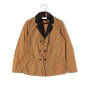 【90%OFF】異素材切替 ダブルブレステッド テーラードジャケット ブラウン 46 ファッション > メンズウエア~~ジャケット