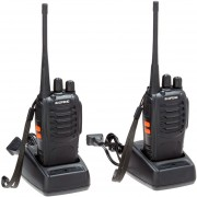 Pack 2 Walkie Talkie UHF Baofeng BF-888S Radio Portatil