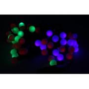 Mini Lucciole 60 Led Multicolori RGB Forma Pallina Rotonda Per Decorazione Natale Filo Nero 8,8 metri Uso Interno CS31050
