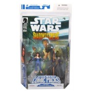 """Star Wars Year 2008 Dark Horse Comic Packs """"Shadows of the Empire #4"""" Series 2 Pack 4 Inch Tall Action Figure -LEIA ORGANA with Blaster Pistol and PRINCE XIZOR with Staff Plus Bonus Comic Book """"Shadows of the Empire #5"""""""
